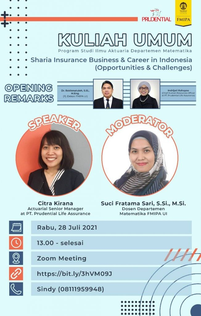 Kuliah Umum Sharia Insurance & Career in Indonesia (Opportunities & Challenges)